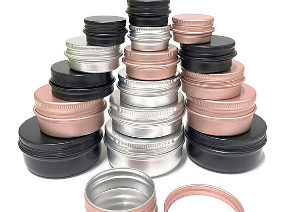 100Pcs Cosmetic Container 5/10/15/20/30/50/60g Aluminum Pot Jar With Lid Eye
