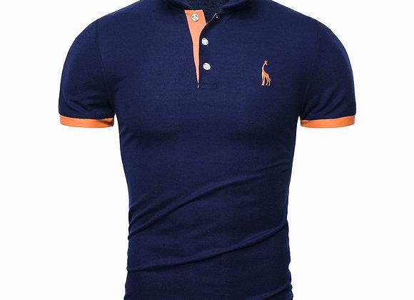 Dropshipping 13 Colors Brand Quality Cotton Polos Men Embroidery Polo Giraffe
