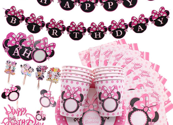 Disney Minnie Mouse Theme Birthday Party Supplies Cup Plate Kids Girl Bi