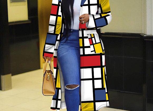 CM.YAYA Autumn Winter 2020 Plaid Print Trench Full Sleeve Women Streetwear