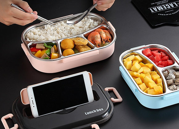 Baispo Lunch Box for Kids With Compartments 304 Stainless Steel Japanese Bento