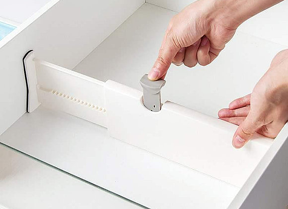 Adjustable Drawer Storage Box and Divider Organizing Silverware and Cutlery
