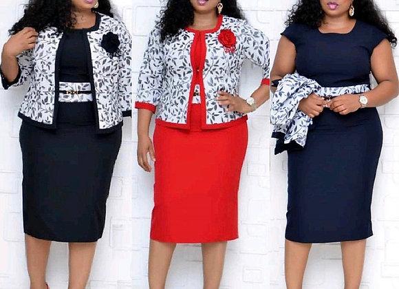 2 Piece Sets 2xl-6xl Plus Size African Dresses Women 2021 Spring Autumn Elegant