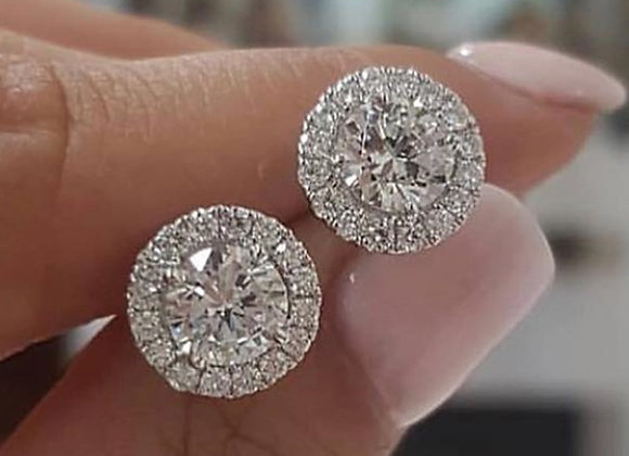 2021 Fashion Luxury 925 Sterling Silver 6mm Small Zircon Stud Earing Earrings