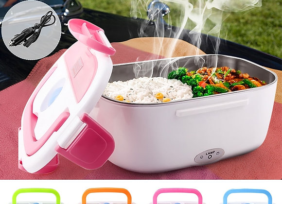 1.05L 12V Electric Heated Car Plug Heating Lunch Box Portable Bento Multi-Funct