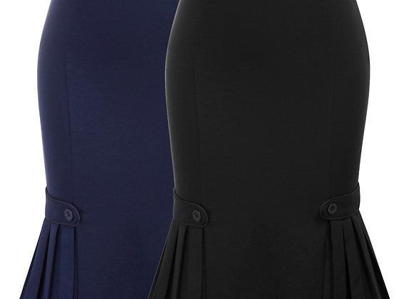 Belle Poque Women Skirts Retro Solid Knee Length Slim Skirt Elegant Hips-Wrapped