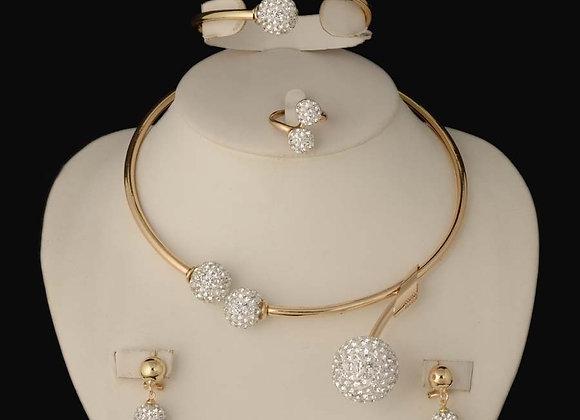 2020 HOT Dubai  Gold Women Party Jewelry Set Women Wedding Necklace Bracelet Ear