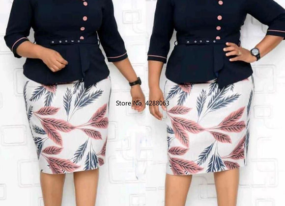 2 Pieces Sets Top and Skirt African Women Clothing African Women Plus Size Suit