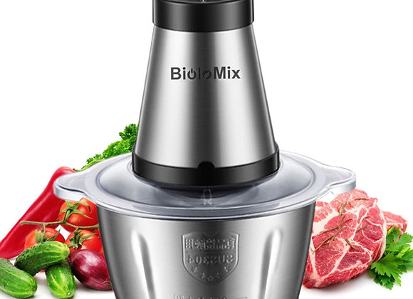 BioloMix 2 Speeds 500W Stainless Steel 2L Capacity Electric Chopper Meat Gri