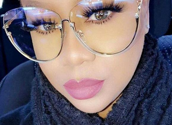 Brand Designer Clear Sunglasses Women Ocean Lens Rimless Oversized Sun Glasse