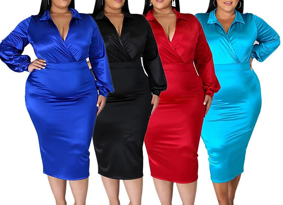 CM.YAYA Plus Size L-5xl Two 2 Piece Set for Women Sexy Party Blouses Top Body