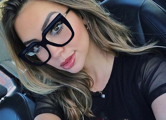 Fashion Black Woman's Eyeglasses Oversized Square Eye Glass Frame for Women