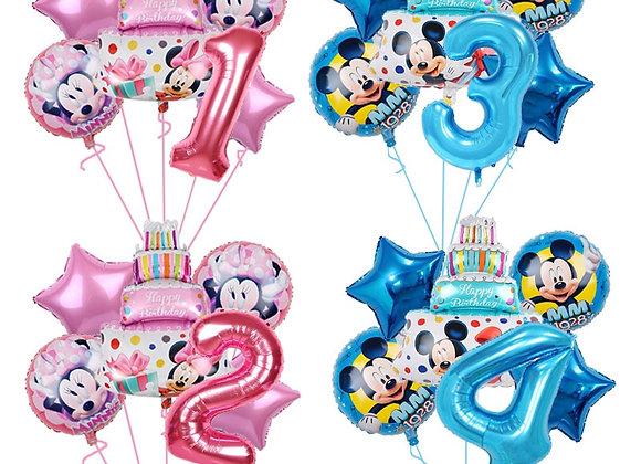 1set 18inch Mickey Minnie Mouse Cake Foil Balloon Cartoon Birthday Party
