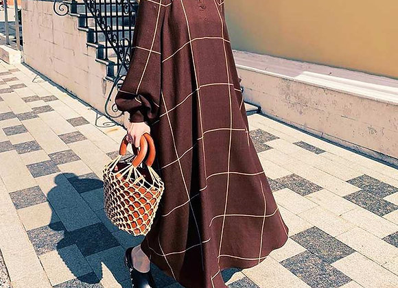 Elegant Maxi Long Dress Women's Long Sleeve Robe Beach Holiday Dress 2021 VONDA