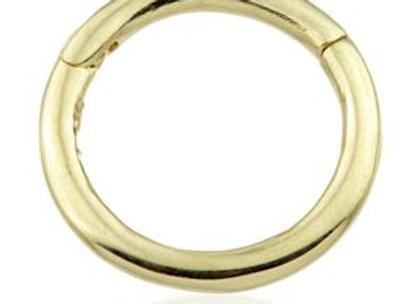 14ct Gold Plain Segment Hinge Ring (1.2mm)