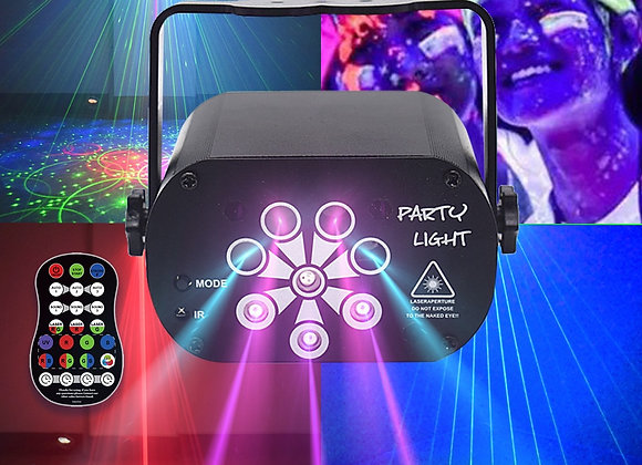129 Patterns USB Rechargeable Led Laser Projector Lights RGB UV DJ Party Disco