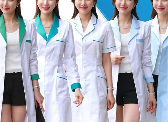 11Style Lab Uniform for Women Uniforms Work Wear Pharmacy White Coat Costume