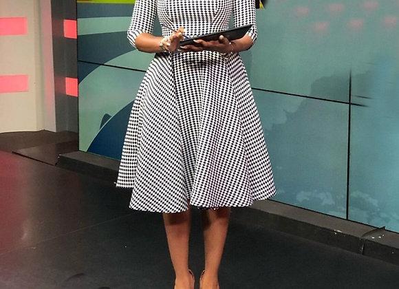 2021 Bodycon Womens Midi Bandage Dress Geometric Zippers Sashes Half
