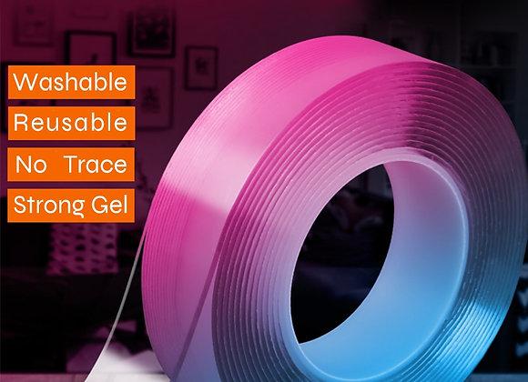 1m/3m/5m X3cm Nano Magic Tape Double Sided Tape Transparent No Trace Reusable