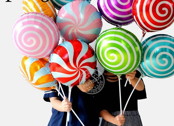 10pcs 18inch Colorful Candy Foil Balloons Lollipop Helium Balloon Baby Shower B