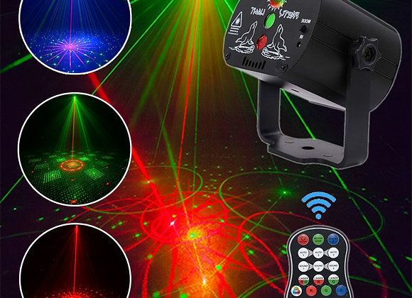 60 Patterns LED Disco Light Christmas Laser Projector Party Light USB Rechargeab