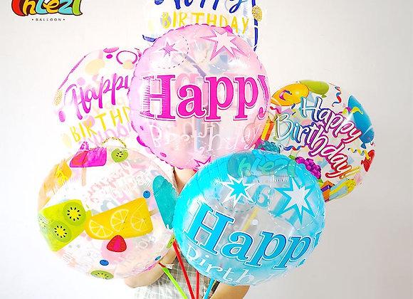 7pcs 18 Inch Transparent Birthday Foil Balloons Adult Birthday Party Decorati