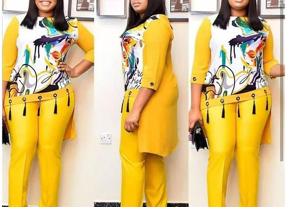 2021 Dashiki African 2 Colors New Fashion Suit (Dress and Trousers)  Suit Africa