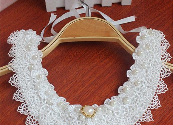 Bib Collar Choker Necklace Jewelry for Women for Wedding Statement Detachable