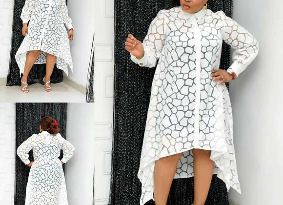 Dashiki Lace African Dresses for Women Super Size Traditional Boubou Robe