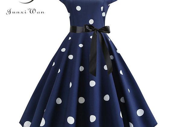 2020 Women Summer Dress Vintage Floral Print Rockabilly Dress Robe Femme Sundre