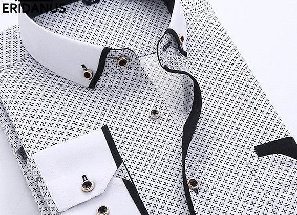 Big Size 4XL Men Dress Shirt 2016 New Arrival Long Sleeve Slim Fit Button Down