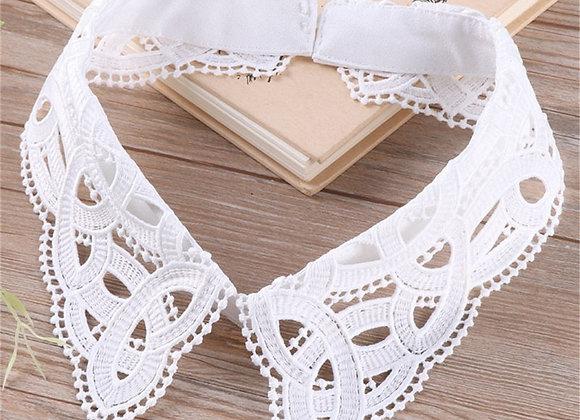 Fashion Lace Hollow Out Detachable Collar Women Girls Shirts Fake Collars