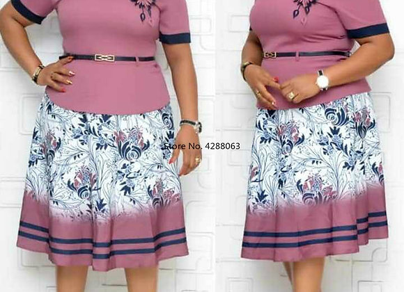 Fashion Style 2020 African Women Printing Plus Size Dress African Dresses