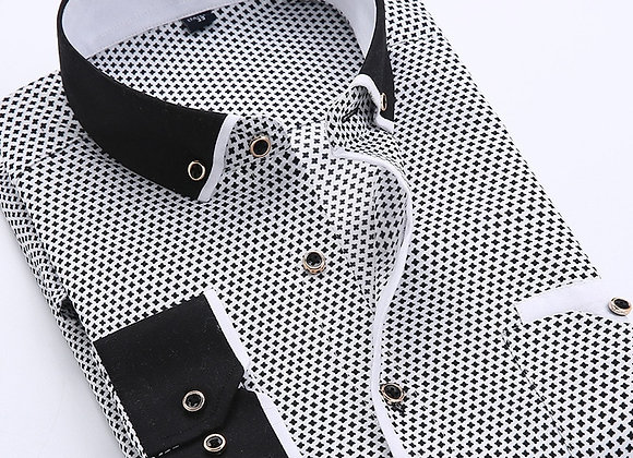 Floral Button Down Men Shirt Brand Male High Quality Long Sleeve Shirts Casual