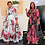 Thumbnail: African Dresses for Women Vintage Floral Print Outfit Long Dress Full Sleeve Das