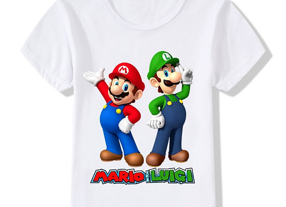 Cartoon Super Game Children Funny T-Shirt Baby Boys Girls Summer Casual Tops