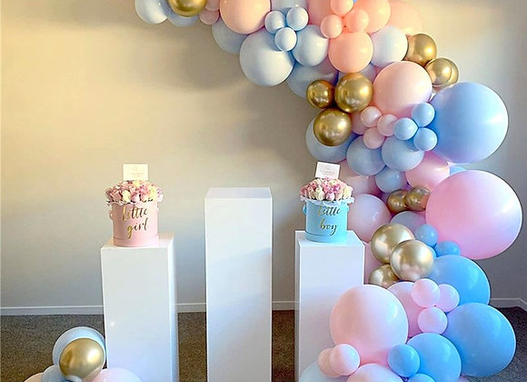 121pcs Pink Blue Gold Balloon Arch Birthday Party Decor Kids Baby Shower Ballon