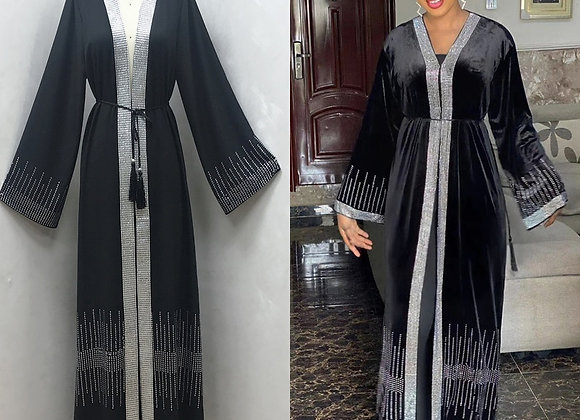 F870 Cardigan Robe Set With Diamond Ironing Africa Dubai