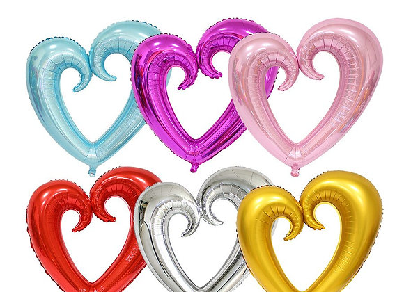 50pcs Heart-Shaped Aluminium Foil Balloon Red Pink Golden Balloons Wedding Engag