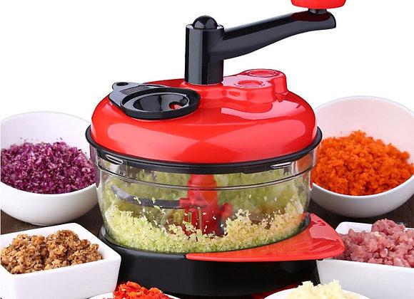 1500ml Vegetable Cutter Chopper Manual Meat Slicer Shredders Grinder Stainless