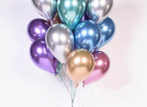 1set 50pcs 5/10inch New Chrome Metallic Latex Balloons Metallic Globos Infla