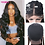 Thumbnail: 613 Blonde Lace Front Human Hair Wigs Middle Part 13x1 Remy Brazilian Body Wave
