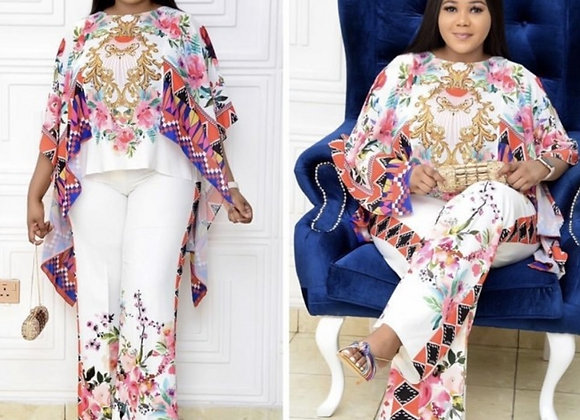 African Clohtes for Women 2021 New Arrival Spring African Women Printing Two