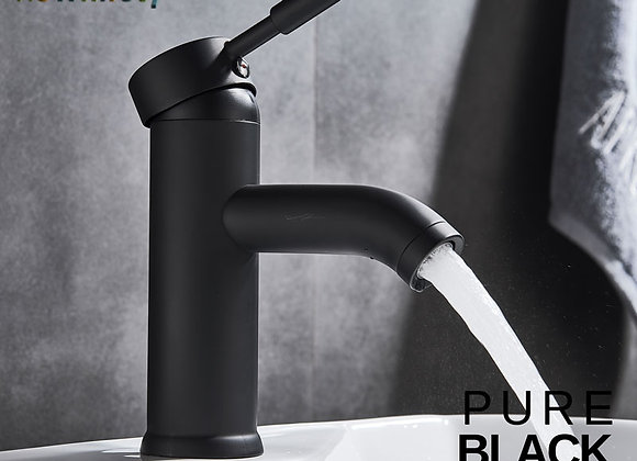 Free Shipping Black Faucet Stainless Steel Paint Faucet Bathroom Basin Faucets