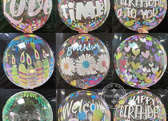 20'' Transparent PVC Printed Helium Bubble Balloon Inflatable Bobo Balloon