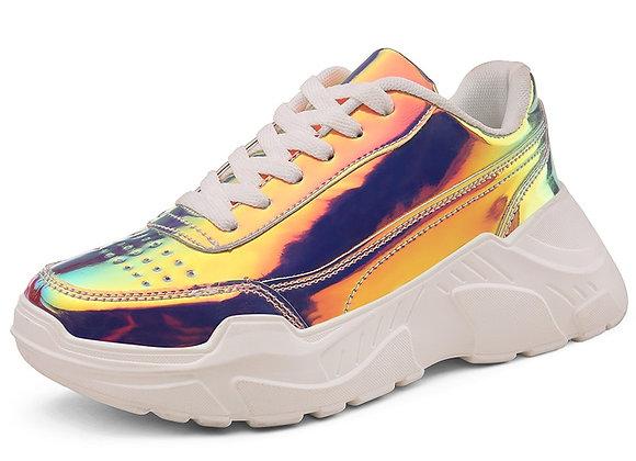 Autumn Shoes Women Sneakers Flats Fashion Lace-Up Platform White Breathable
