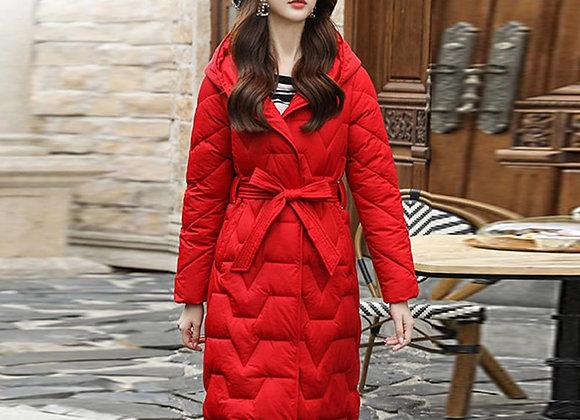 Coat Women Jacket Long Hooded Parkas Winter Jackets and Coats With Belt