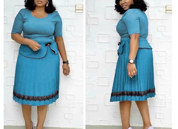 Elegant African Clothing Dress Female Office Lady