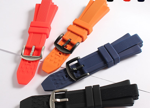 29mm X 13mm Black Silicone Rubber Watch Band Strap for Fits Michael Kors
