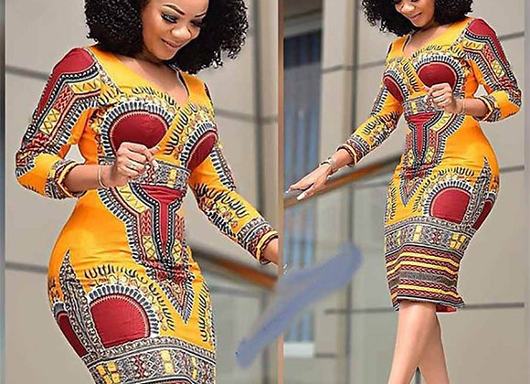 African Dresses for Women Dashiki Print